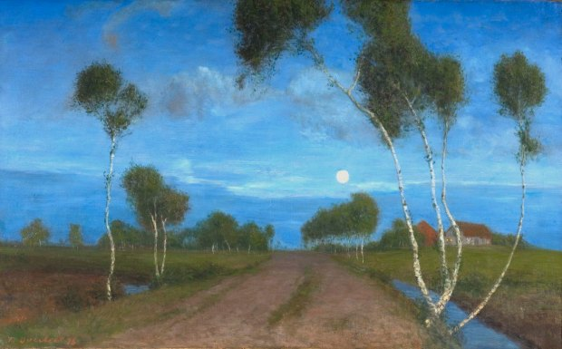 Fritz Overbeck, Abend im Moor (1)